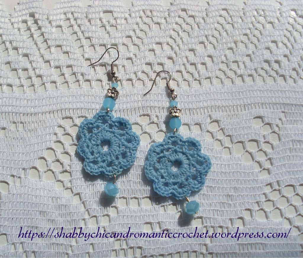 light blue crochet earrings 3 scrc