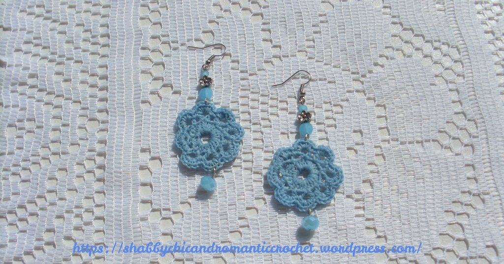 light blue crochet earrings 5 scrc